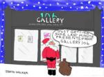 Christmas card for Gallery 106