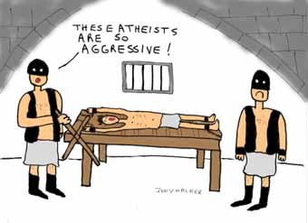 Atheists are so agressive cartoon