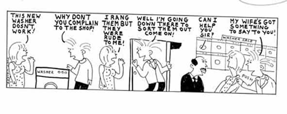 MEN! cartoon strip published in The Sun newspaper complaint